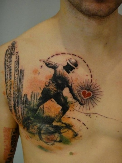 Необычайные татуировки сердца (1)
