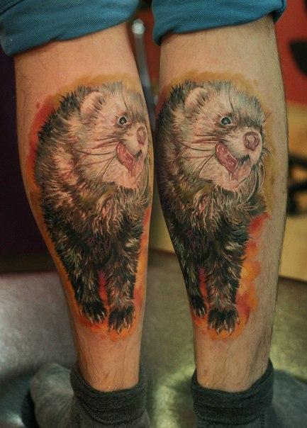 фото татуировки хорька