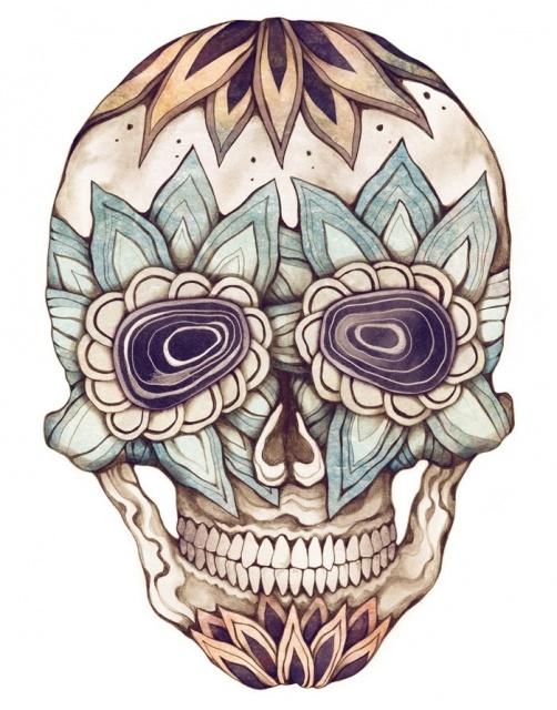 эскизы череп татуировки (1)