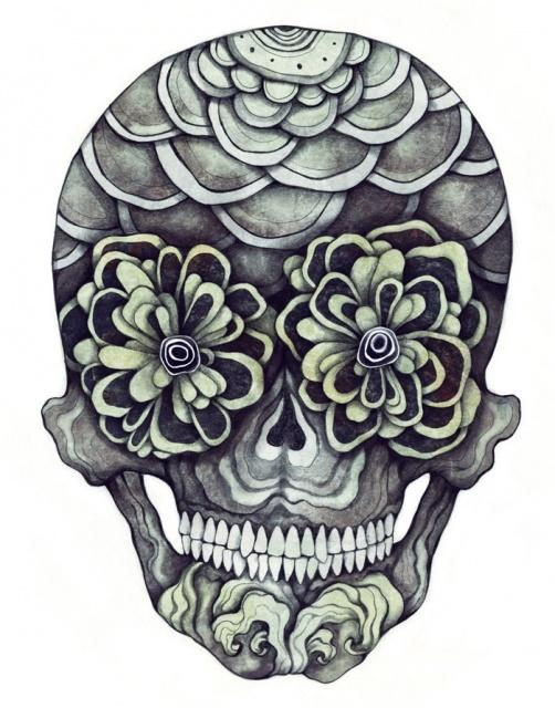 эскизы череп татуировки (3)