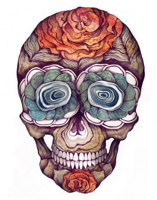 эскизы череп татуировки (2)