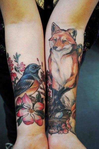 Татуировки животных 2013 на запястье