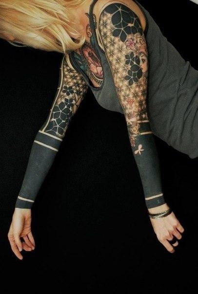Татуировки блэкворк