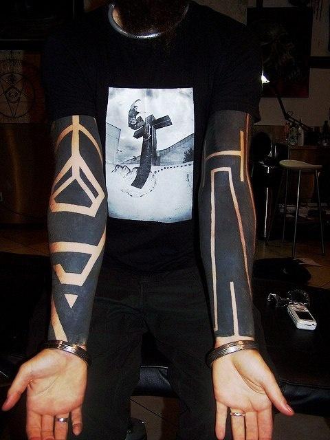 Блэкворк татуировки (7)