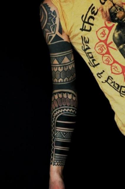 Блэкворк татуировки (5)