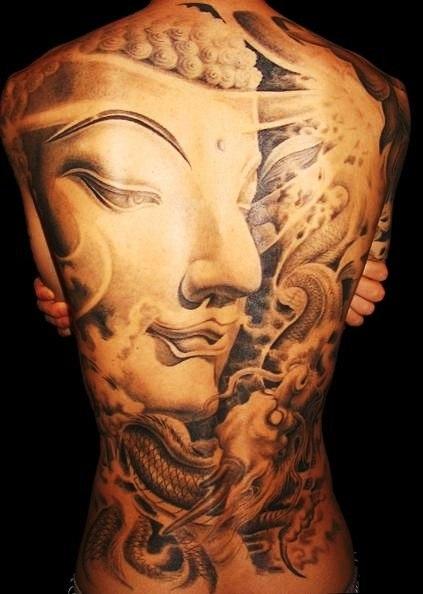 Татуировки: Великий Будда на всю спину