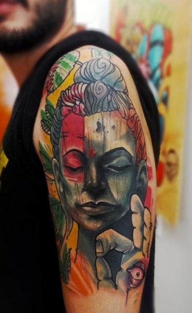 Татуировки: Великий Будда на всю руку