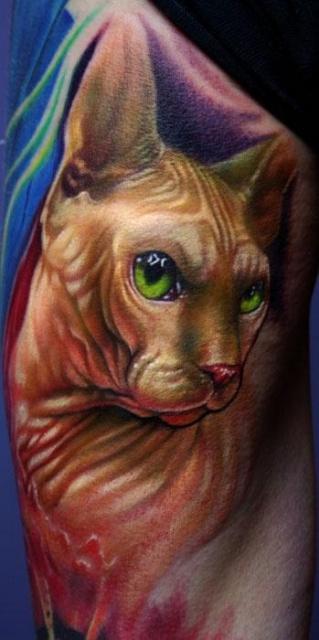 Красивые татуировки котов (4)
