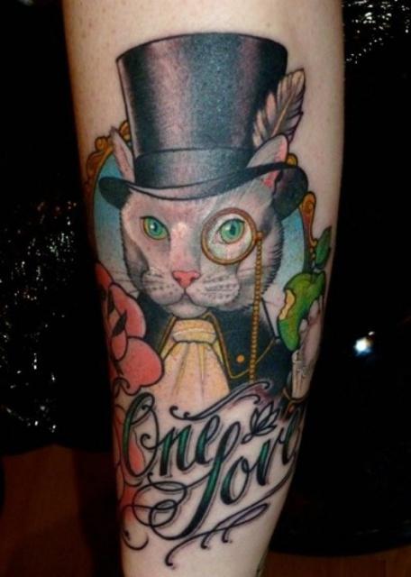 Красивые татуировки котов (3)