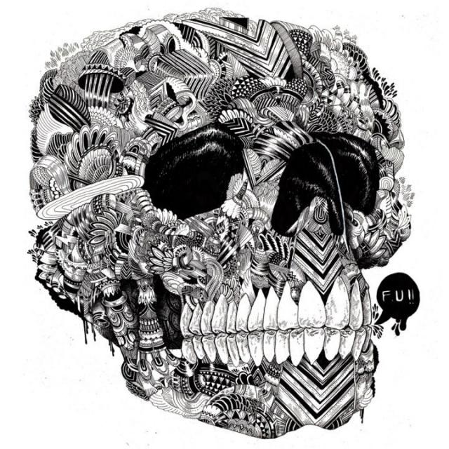 рисунки татуировок черепа