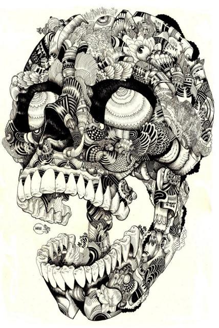 Эскизы черепов (3)