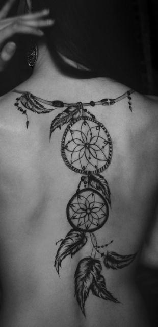 Женские татуировки ловец снов на