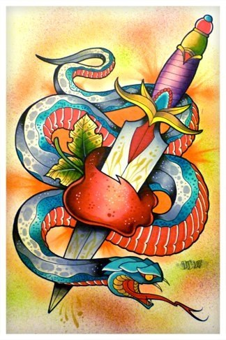 Цветные эскизы змей 2013 (9)