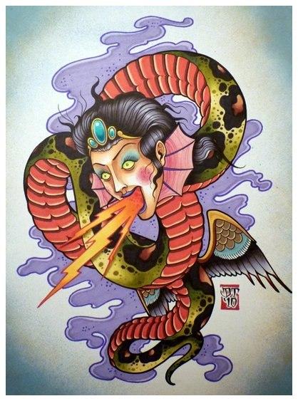 Цветные эскизы змей 2013 (7)