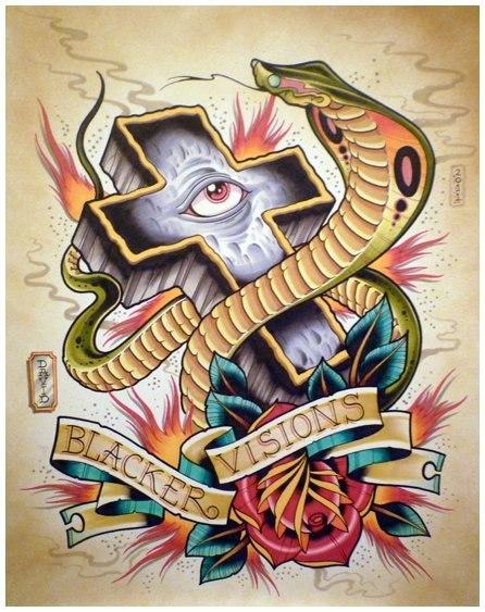 Цветные эскизы змей 2013 (5)