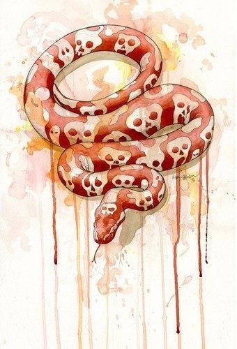 Цветные эскизы змей 2013 (4)