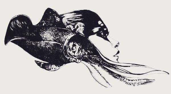 Эскизы: девушки и животные (3)