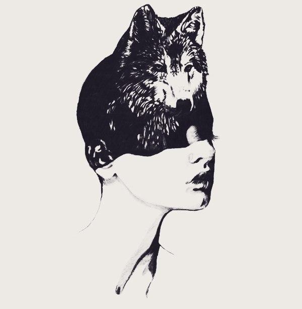 Эскизы: девушки и животные (1)