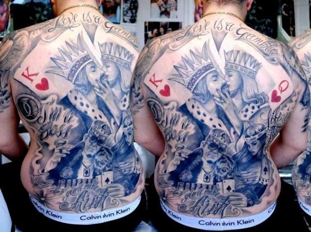 Мужские на спине фото татуировок