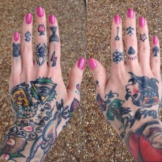 Татуировки на кистях рук (4)