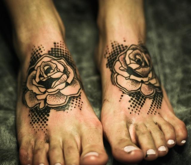 Татуировки на ступне (5)