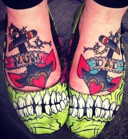 Татуировки на ступне (4)