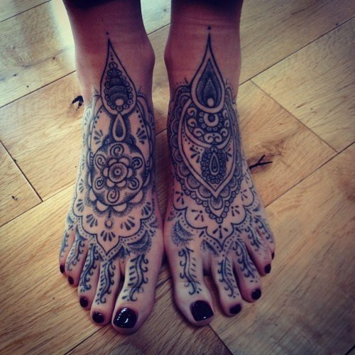 Татуировки на ступне (3)