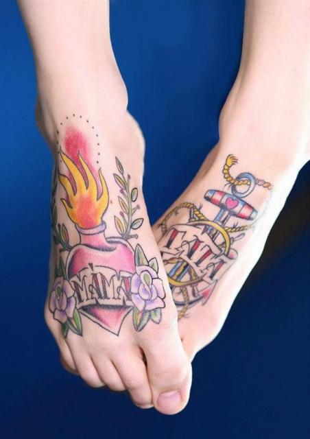 Татуировки на ступне (1)