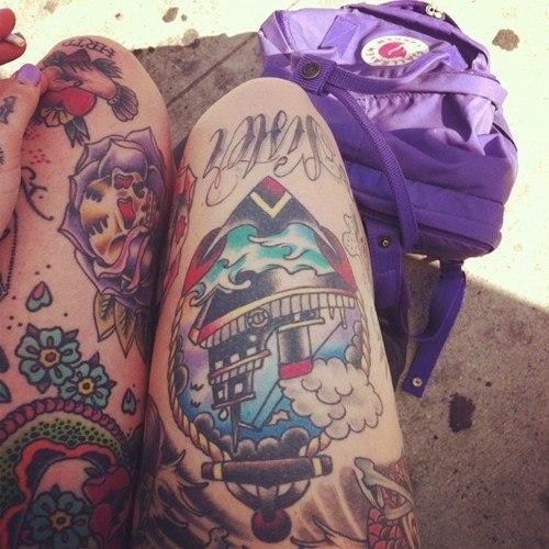 Красивые татуировки на женских ногах (2)