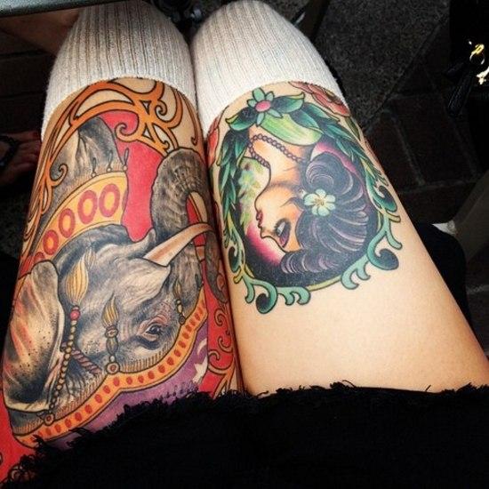 Красивые татуировки на женских ногах (1)