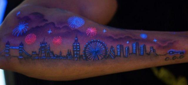 Татуировка которая светится ночью