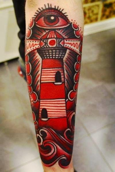 Татуировка-маяк рукав