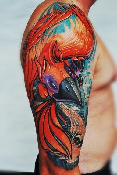 Татуировки птицы Феникс на руке