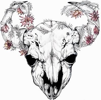 эскизы тату рога (5)