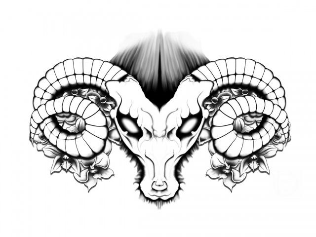 эскизы тату рога (1)
