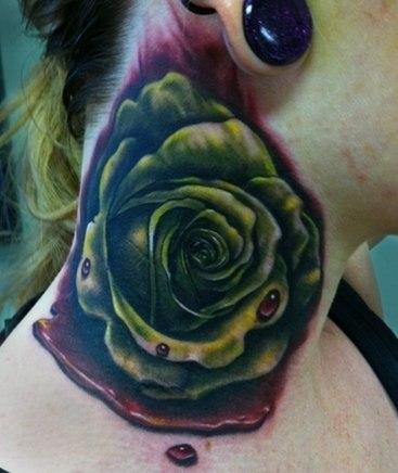 роза на женской шее (6)