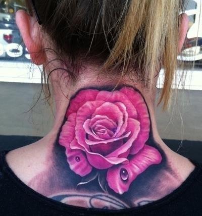 роза на женской шее (4)