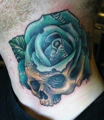 роза на женской шее (3)