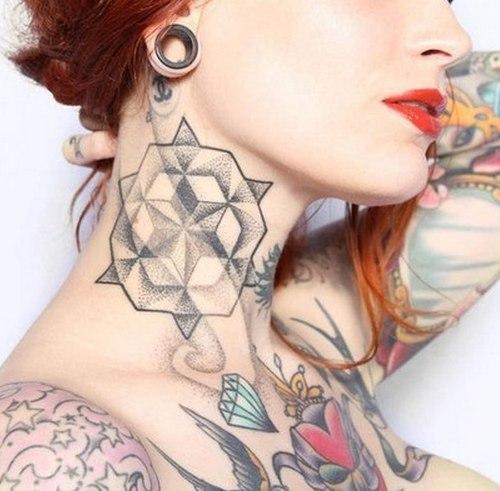 татуировки на шее (8)