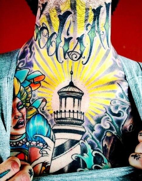 татуировки на шее (3)