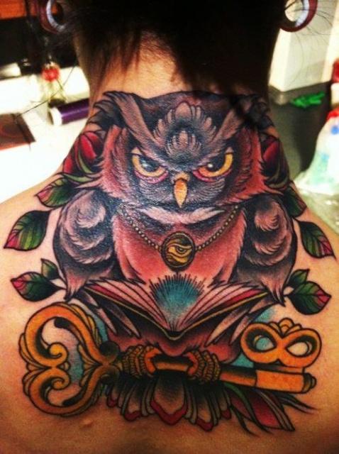 татуировки на шее (2)