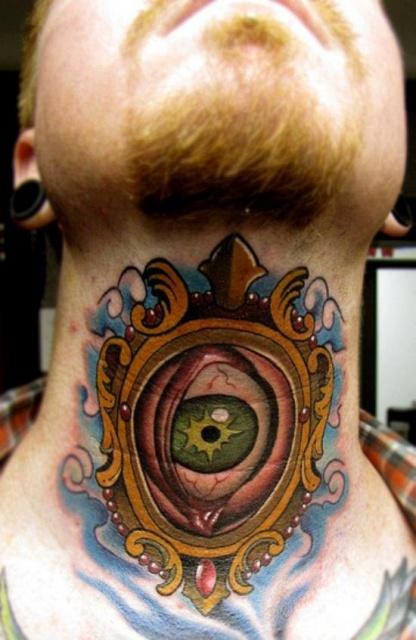татуировки на шее (4)