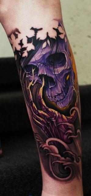 Татуировки черепов на руке