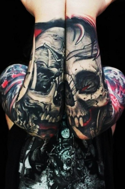 Татуировки черепов на руках