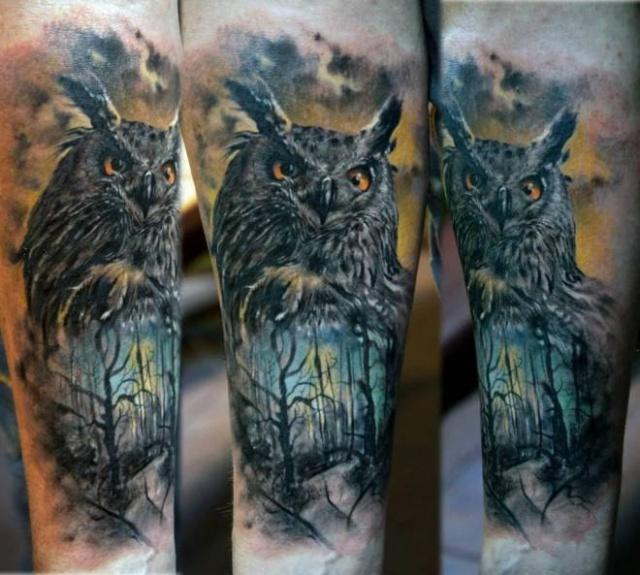 Татуировки совы (2)