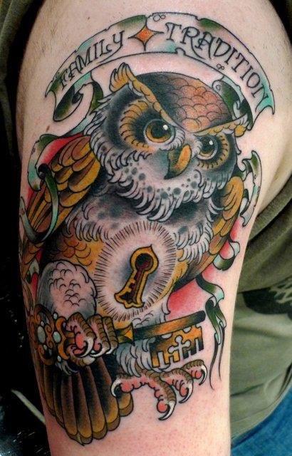 Татуировки совы (10)