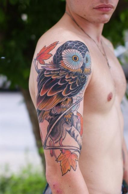 Татуировки совы (8)