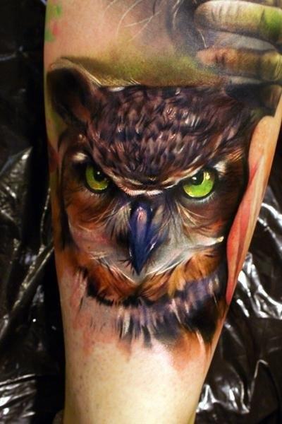 Татуировки совы (7)