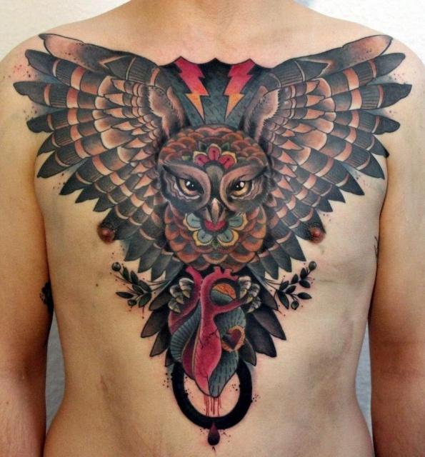 Татуировки совы (6)