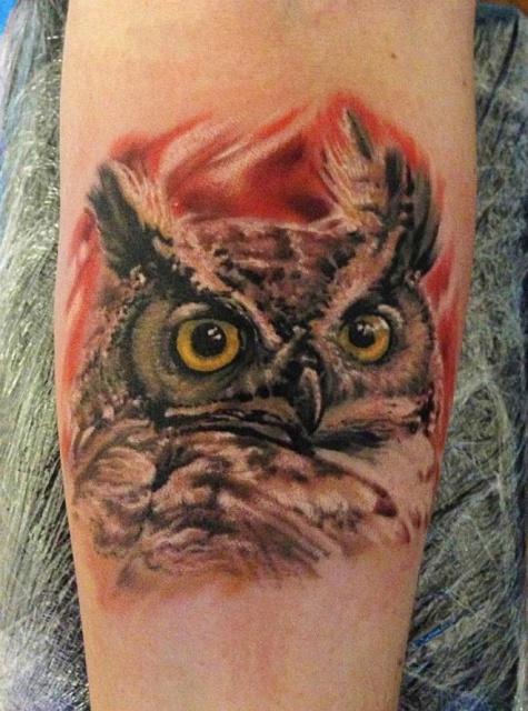 Татуировки совы (5)